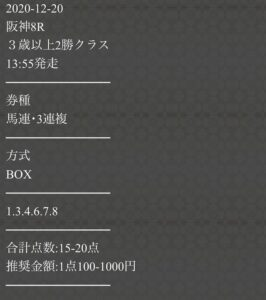 P412月20日無料情報買い目