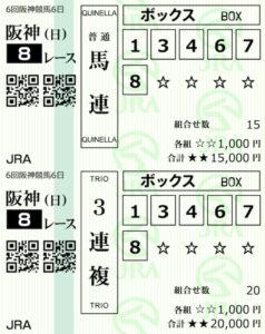 P4・12月20日阪神8R購入馬券