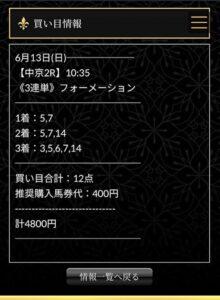 エクストラ有料情報6月13日