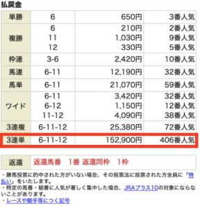 ホライズン有料情報3月27日中山8R結果