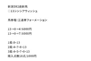 ショウリウマ8月22日新潟3R有料情報