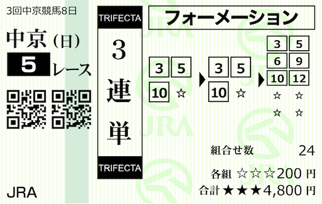 うまライブ有料情報5月30日購入馬券